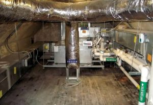 Ducts in the attic